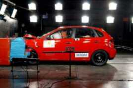 Seat Ibiza i en crashtest