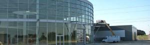 Her er billeder fra byggeriet af det nye bilhus i Kolding
